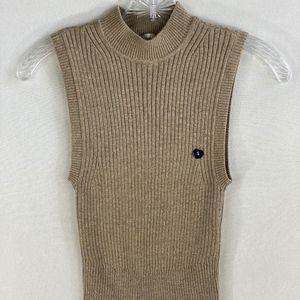 NWT Abercrombie & Fitch Beige Knit Top - S